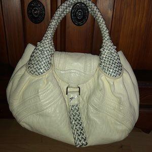 Authentic FENDI leather cream spy bag RARE